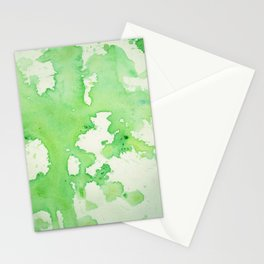 paint splatters in shades of green Stationery Cards