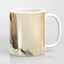 Alaskan Grizzly Map Coffee Mug