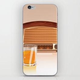 Radio & Whiskey iPhone Skin