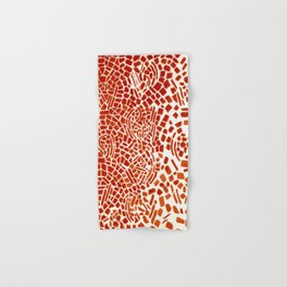 Alma Thomas, Untitled (Music Series), Red Roses & Musical Notes African American portrait painting Hand & Bath Towel