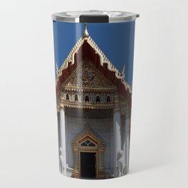 Buddhist temple Bangkok Travel Mug