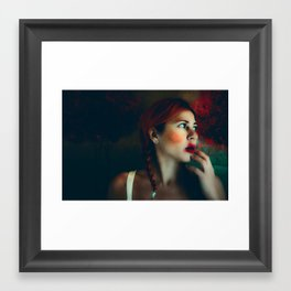 Little Red Head  - Kissing Boys Framed Art Print