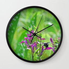 Bee Loves Lobelia Wall Clock