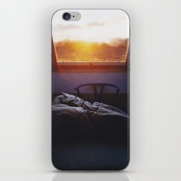 Sunset in bed iPhone Skin