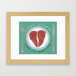 Your Liver Framed Art Print