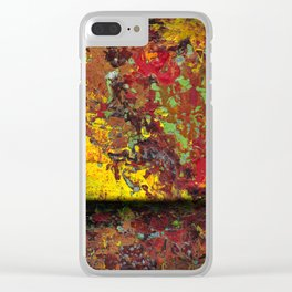 Abstract Distressed #1 Clear iPhone Case