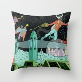 Surveillance of Moon Base 23 Throw Pillow