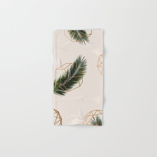 Palm + Geometry #society6 Decor #buyart Hand & Bath Towel