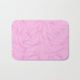 Elegant florl pattern with pink petals Bath Mat