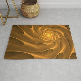 Gold Sahara. Hot desert. Sand dunes. Abstract golden spiral Rug