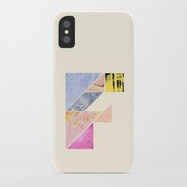 Collaged Tangram Alphabet - F iPhone Case