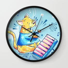 Keyboard Cat Says Thank You Wall Clock