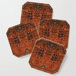 N151 - Orange Oriental Vintage Traditional Moroccan Style Artwork Coaster