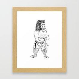 Boxer lion Framed Art Print