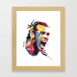 Gareth Bale WPAP 3 Framed Art Print