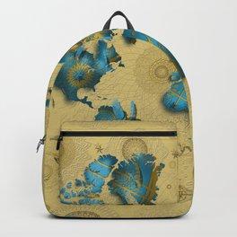 world map gold vintage decor Backpack