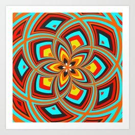 Spiral Rose Pattern C 2/4 Art Print