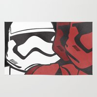 stormtrooper Area & Throw Rugs featuring Stormtrooper by Sharayah Mitchell
