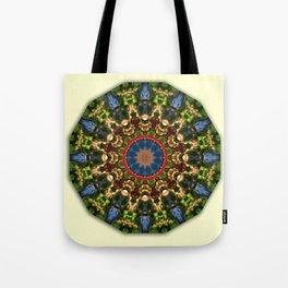 Nature Flower Mandala 006.1, Floral mandala-style Tote Bag
