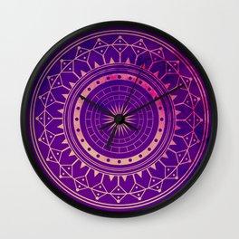 Pink & Purple Watercolor Mandala Wall Clock