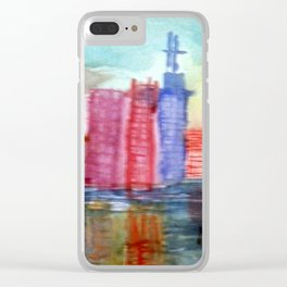 Aquarell USA Clear iPhone Case