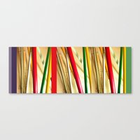 bamboo Canvas Prints featuring bamboo by Davey Charles