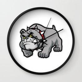 Classic Bulldog Pose Wall Clock
