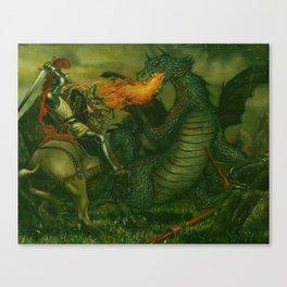 Knight & Dragon Canvas Print