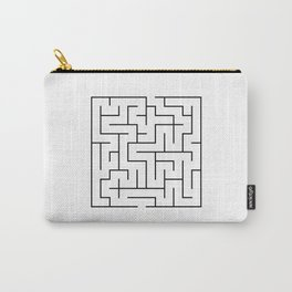 Maze-Square (black) Carry-All Pouch