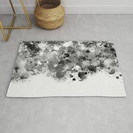 paint splatter on gradient pattern bwmw Rug