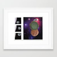 sacred geometry Framed Art Prints featuring Sacred by SAM HAID