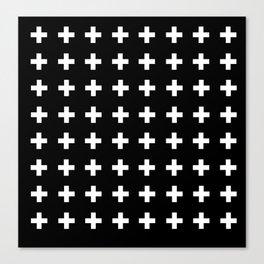 Swiss Cross Scandinavian Design Canvas Print