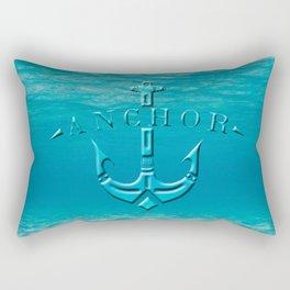 Anchor in the sea Rectangular Pillow