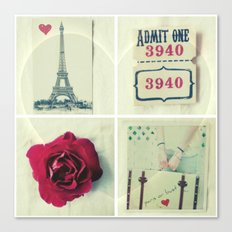 Paris Collage Canvas Print