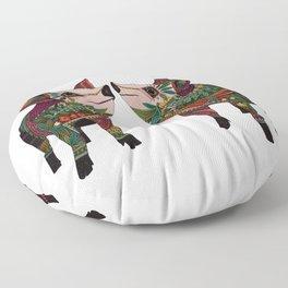 pig love white Floor Pillow