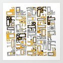 Tetris monsters yellow and grey by nicalorber