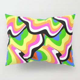 Hippie pattern in rainbow colors Pillow Sham