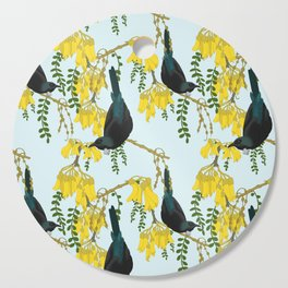 Tuis in the Kowhai Flowers Cutting Board