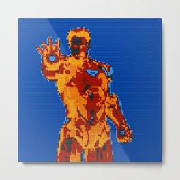 Lego portrait of Iron Man. Metal Print