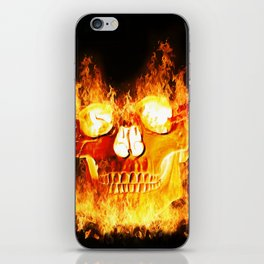 Flaming Skull iPhone Skin