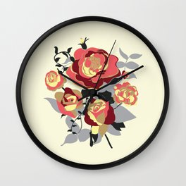 Roses of a different color Wall Clock