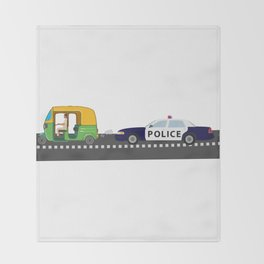 High Speed Chase Throw Blanket