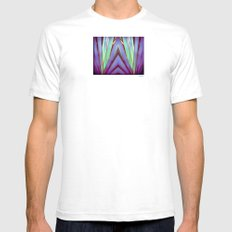 Fiesta Palm SMALL White Mens Fitted Tee