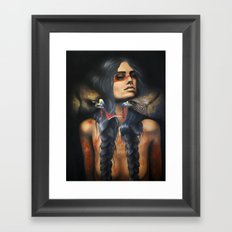Running Eagle Framed Art Print