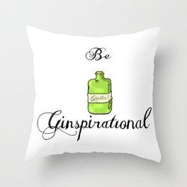 GinSpiration Throw Pillow