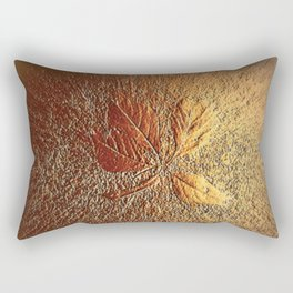 Rust glitter leaves in fall Rectangular Pillow