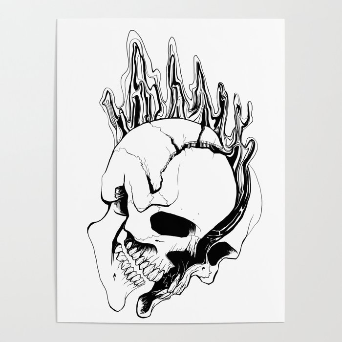Skull (Spill) Poster