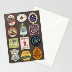 Liquor Stickers Stationery Cards
