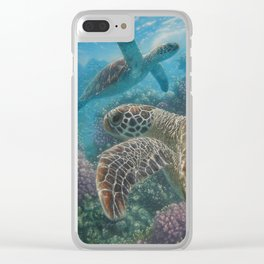 Sea Turtles - Turtle Bay Clear iPhone Case