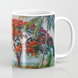 Royal Poinciana Tropical Florida Keys Landscape by A.E. Backus Coffee Mug